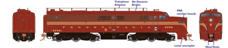 Rapido 23030 HO - PA-1 Single Locomotive - DCC Ready - Pennsylvania #5759
