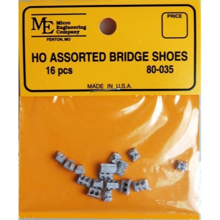 Micro Engineering 80035 - HO Assorted Bridge Shoes (16pcs)