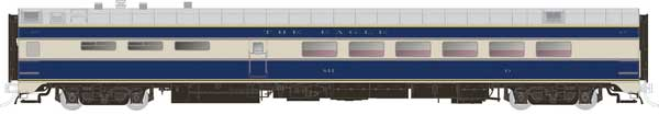 Rapido Trains 124036 HO Scale Pullman-Standard Lightweight Diner-Lounge Missouri Pacific (Eagle) #844