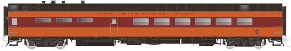 Rapido Trains 124029 HO Scale Pullman-Standard Lightweight Diner Milwaukee Road (Hiawatha) #123