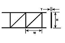 Plastruct 90924 - 43/64 inch Open Web Truss - Pratt Style (2pcs)