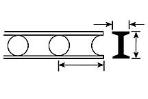Plastruct 90933 - HO 5/16 inch Open Web Truss - Cellform Style (2pcs)