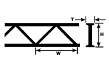 Plastruct 90402 ABS 3/16 Warren Open Web Truss (2pcs pkg)