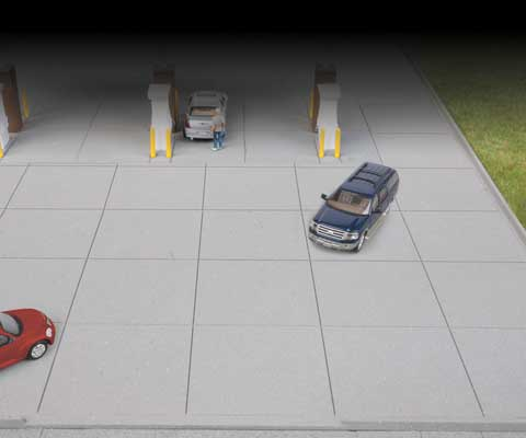 Walthers 3540 HO Gas Station Parking Lot Kit
