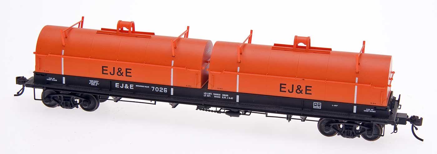 Intermountain Red Caboose HO 32502-37 Evans 100 Ton Coil Car - Elgin Joliet & Eastern #7027