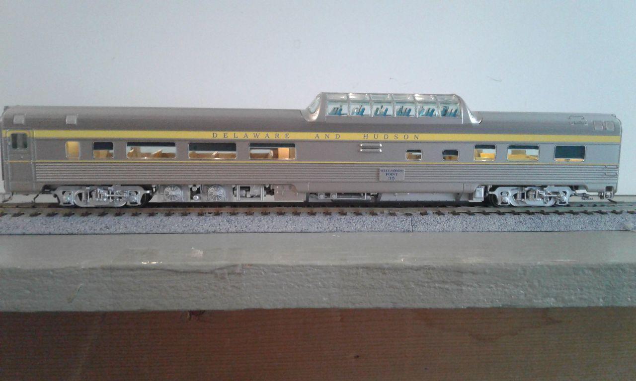 Rapido 116022 HO Budd Passenger Car Mid-Train Dome-lounge-Observation Car - Delaware & Hudson -  Willsboro Point