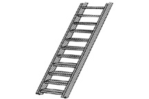Plastruct 90446 - #1 (1:32) ABS 3Ft-0In STAIR (1pc)