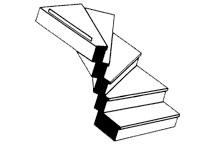 Plastruct 90942 - G (1:24) Custom Left Turn Staircase (1pc)