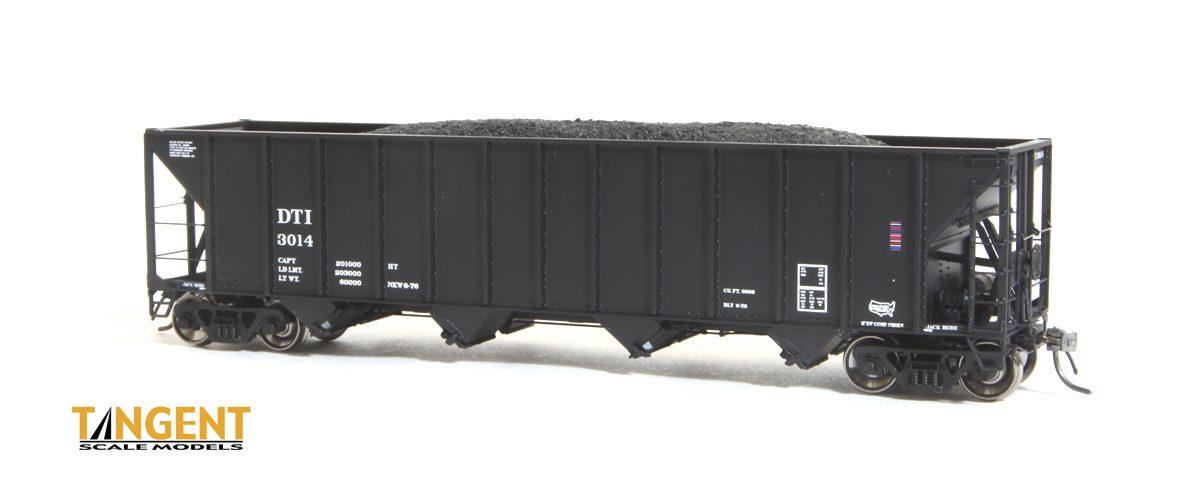 Tangent Scale Models HO 10856 DT&I Original Black Bethelhem 3600 cuft Quad Hopper No.3073