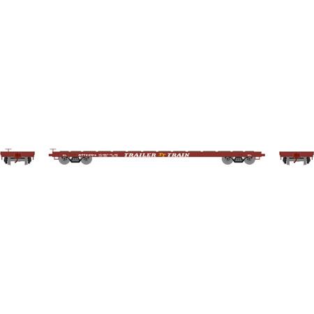 Athearn RTR 92692 - HO 60 Ft Flat Car - Trailer Train #97076