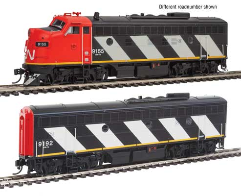 WalthersProto 40909 HO EMD F7 A/B Canadian National 9159&9195 with Tsunami sound and DCC