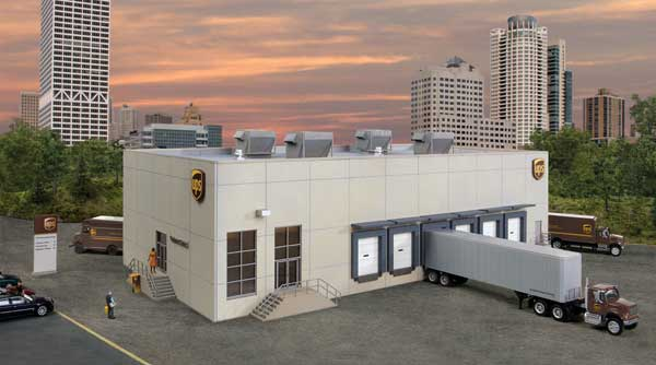 Walthers 4110 HO Cornerstone UPS Hub with Customer Service Center