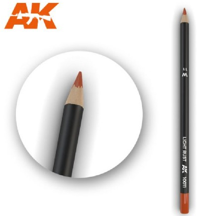 AK Interactive 10011 - Weathering Pencils - Light Rust (5/Box)