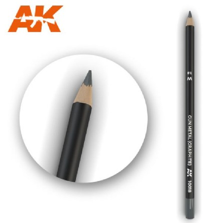 AK Interactive 10018 - Weathering Pencils - Graphite (5/Box)