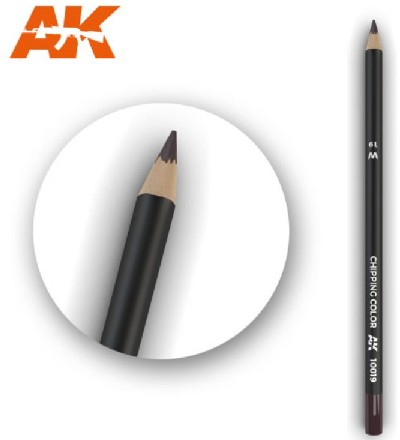 AK Interactive 10019 - Weathering Pencils - Chipping Color (5/Box)