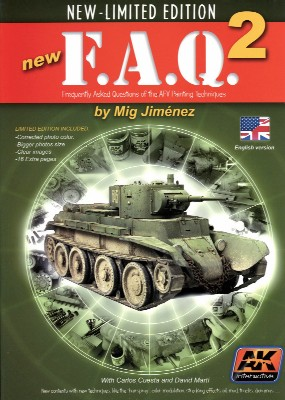 AK Interactive 38 - FAQ 2 AFV Painting Techniques Book - 5th Edition