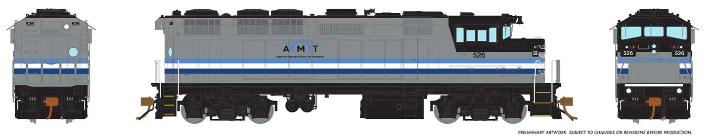 Rapido 19022 HO GMD F59PH - DCC Ready - AMT Montreal #526
