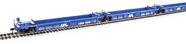 WalthersMainline 55600 HO Thrall 5-Unit Rebuilt 40 Ft Well Car -  American President Lines #2003 A-E