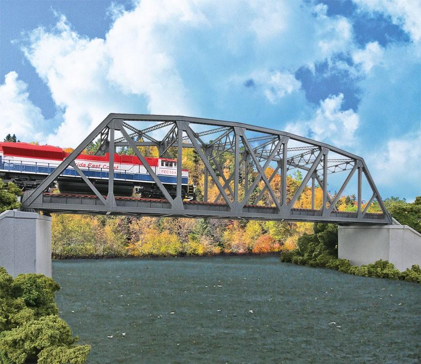 Walthers Cornerstone 4522 - HO Arched Pratt Truss Railroad Bridge - Double Track Kit