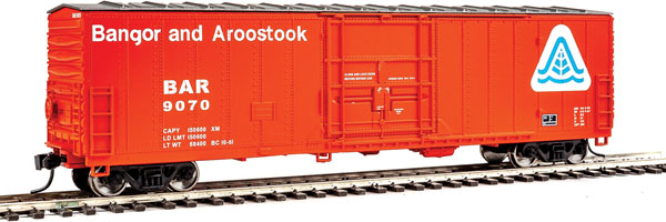Walthers Mainline HO 2042 - 50 Ft FGE Insulated Boxcar - Bangor & Aroostook #9070