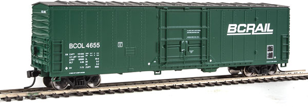 Walthers Mainline HO 2044 - 50 Ft FGE Insulated Boxcar - BC Rail #4655
