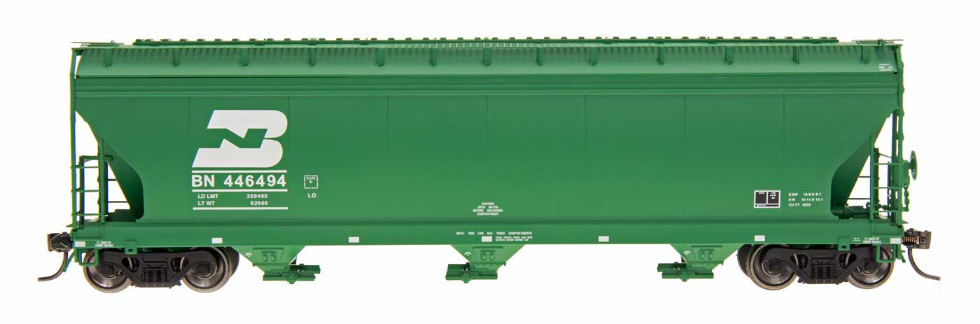 Intermountain 47001-28 HO RTR- ACF 4650 3-Bay Hopper - Burlington Northern #446185