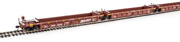 WalthersMainline 55607 HO Thrall 5-Unit Rebuilt 40 Ft Well Car - BNSF Railway 238298 A-E