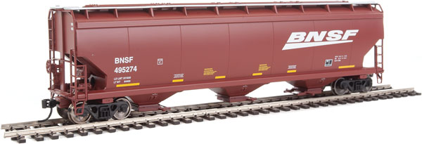 Walthers Mainline - 7605 HO 60 ft NSC 5150 3-bay Covered Hopper - BNSF #495274