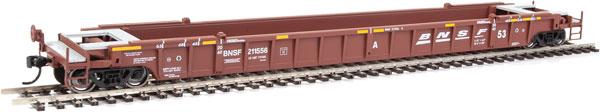 Walthers Mainline 55069 - HO 53 ft Well Car - BNSF #211556 (3pk)