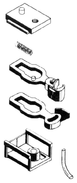 Micro Trains Line 102014 - N Body Mount Couplers - Short Shank w/Draft Gear Boxes (2 pair)