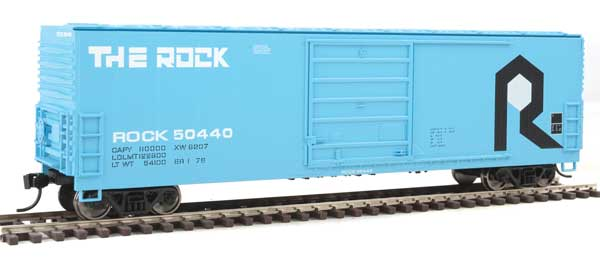 Walthers Mainline HO 1932 - 50 Ft Evans Smoothside Boxcar - Rock Island #50447
