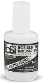 Bob Smith Industries 105 - Plastic-Cure Brush-On Gap Filling Cyanoacrylate Glue (.5oz)