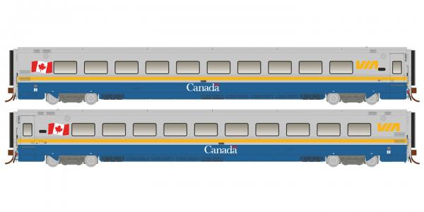 Rapido 108037 HO Scale LRC Coach VIA Canada Scheme #3325 - Pre Order