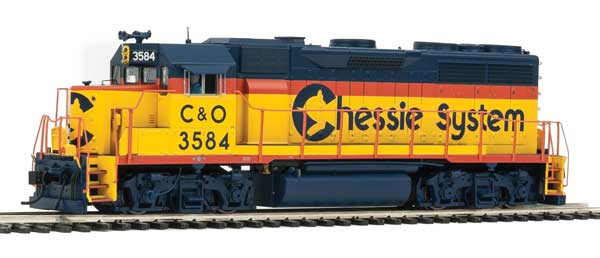 Walthers 42166 HO EMD GP35 PH II Chessie C&O 3584 with Tsunami sound and DCC