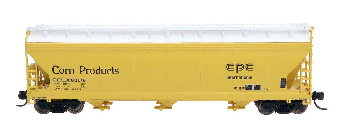 Intermountain 67078-05 - N ACF 4650 Cubic Ft. 3-Bay Hoppers - Corn Products #60026