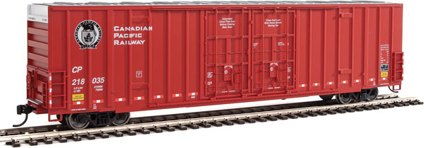 Walthers Mainline 2907 HO - 60ft High Cube Plate F Boxcar - Canadian Pacific #218035