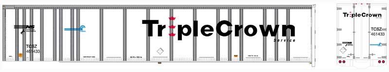 Bowser 42101 RTR HO - Platewall Roadrailer - Triple Crown #461433
