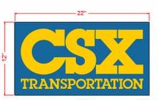 Stoddarts Ltd. CSX - 3D Railroad Wall Artwork - CSX Logo