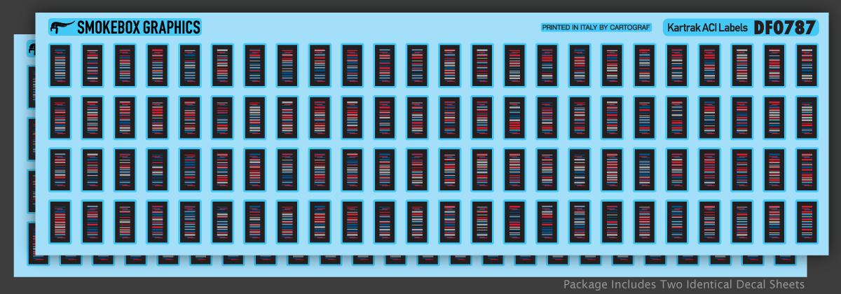 SmokeBox Graphics DF0787 - HO Kartrak ACI Labels - Decals