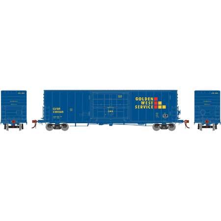 Athearn Genesis HO - G69376 50 ft PC&F SS Box w/14 ft Plug Door - Golden West Service #136048