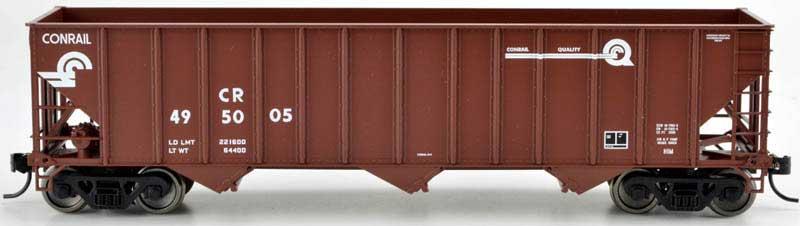 Bowser 42374 - HO RTR 100 Ton 3-Bay Open Hopper - Conrail Quality #495097