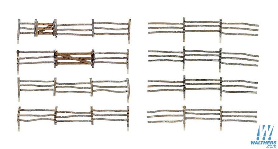 Woodland Scenics 3001 - O scale Log Fence - Kit