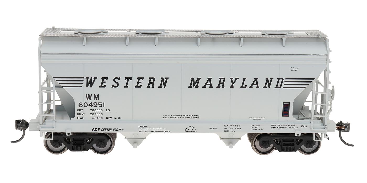 Intermountain Railway 46540-06 HO Scale ACF Center Flow Hopper Western Maryland #604990