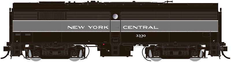 Rapido 22540 HO - DC/DCC/Sound - Alco FB-2 New York Central (Lightening Stripe) #3330