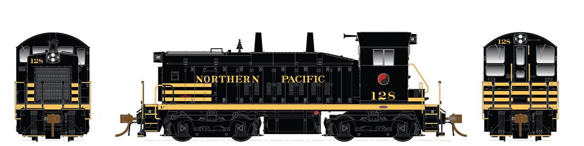 Rapido 27044 HO EMD SW1200 -DC/Silent - Northern Pacific #130 - Pre-order