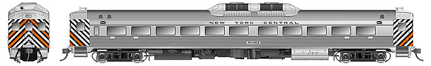 Rapido 16075 HO RDC-1- Phase 1b - American Versions - New York Central M457 - DCC Ready