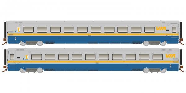 Rapido 108033 HO Scale LRC Coach VIA Original Scheme Unnumbered-Pre Order