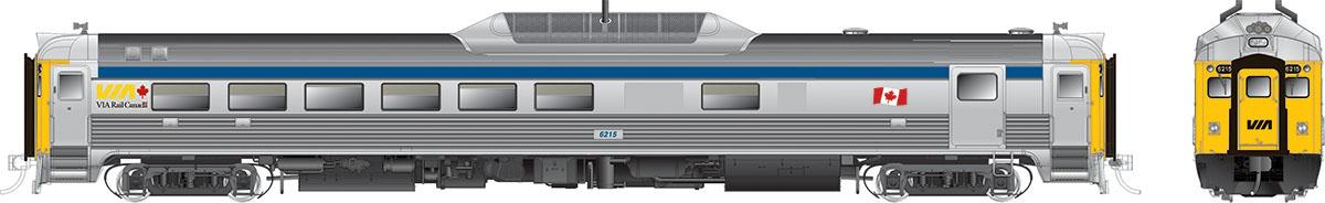 Rapido 16156 HO RDC 2 - DC/Silent- VIA Rail (Blue Stripe)(Phase ll) #6215
