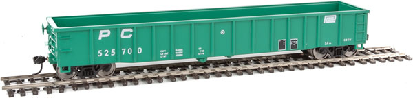 Walthers Mainline 6168 HO 53 Ft Thrall Smooth-Side Gondola - Penn Central 525710