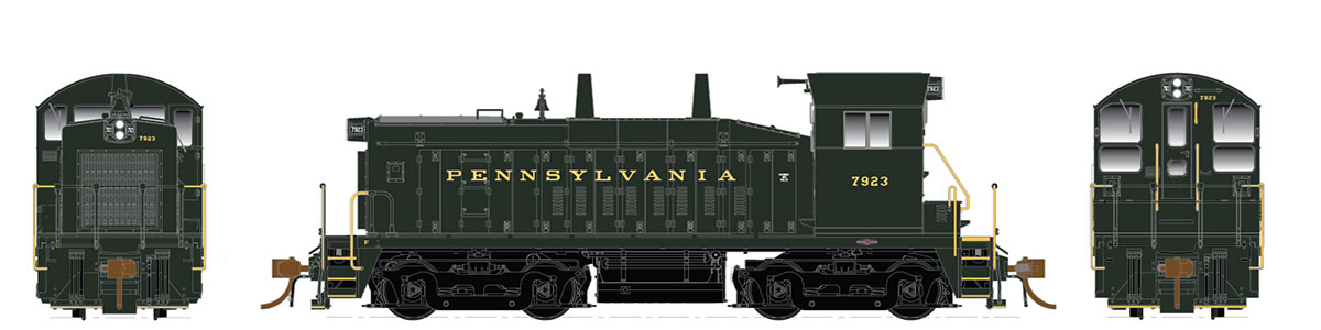 Rapido 27048 HO EMD SW1200 -DC/Silent - Pennsylvania #7929 - Pre-order